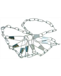 Eagle Claw Chain Stringer 46'' 9 Snap Silver - 04300-005