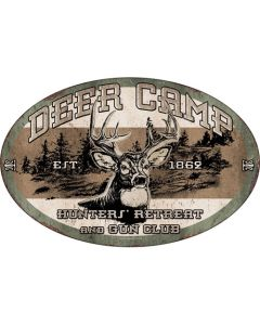 Rivers Edge Products Deer Camp Tin Sign 12x17 REP-1535