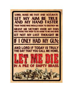 Rivers Edge Products Lords Prayer Tin Sign 16 REP-1500