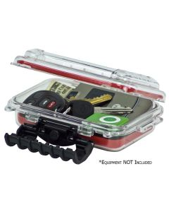 Plano Waterproof Polycarbonate Storage Box - 3449 Size - Red/Clear Plano-144900