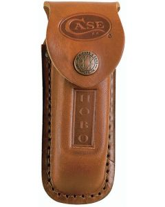 Case Cutlery 1049 Brown Leather Sheath for 3-Blade Hobo Folding Knife CA01049