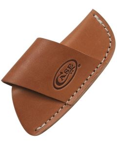 """Case Cutlery Brown Leather Side-Draw Belt Sheath for 4.5"""" Folding Knives CA50232"""