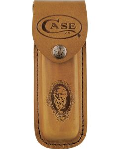 Case 9027 Large Job Case Sheath Brown Leather Construction Stamped CA9027